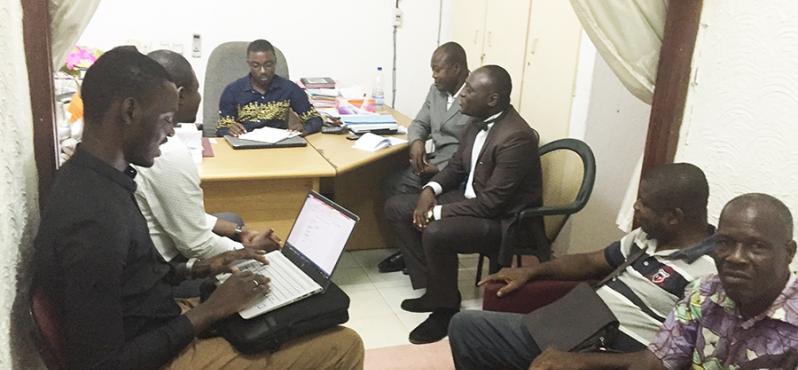 PG Côte d'Ivoire avec le PCA de la Cooperative EKAZO à Soubré